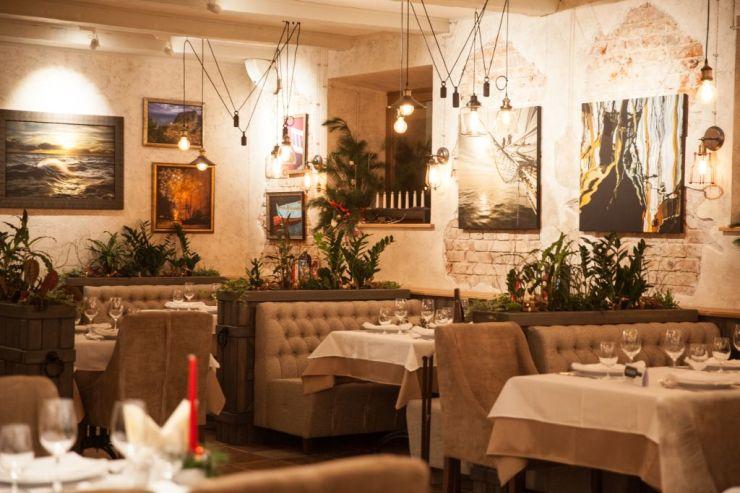 Ресторан Субботица. Интерьер основного зала